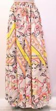 PLUS SIZE FUNKY BOHO HIPPIE ABSTRACT HIGH WAIST MAXI SKIRT MULTI 18 20 22