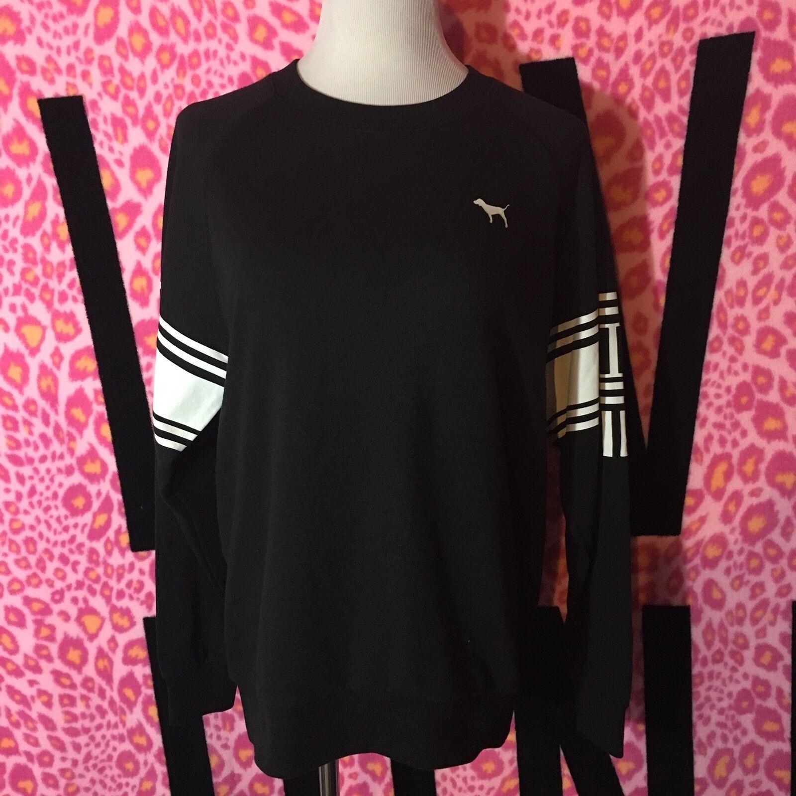 Victoria's Secret PINK Oversized Crew  Sweatshirt Extra Small XS NWT