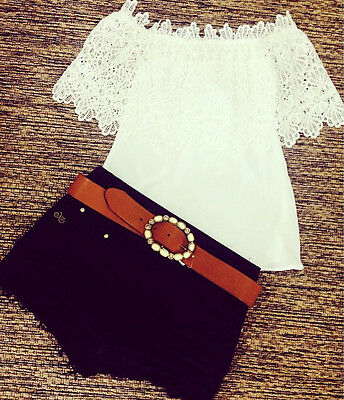 Fashion Women Blouse Short Sleeve Floral Cotton Casual Tops Shirt Blouses Loose