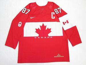 40391c59dcd SIDNEY CROSBY TEAM CANADA 2014 SOCHI OLYMPICS RED NIKE HOCKEY JERSEY ...