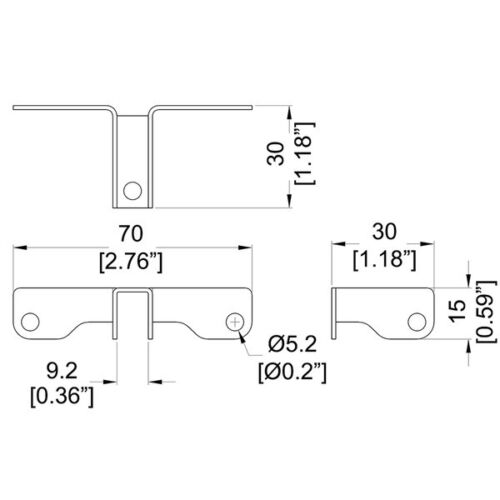 One Penn Elcom B1631 3-Way Divider Bracket for Cases