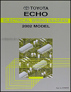 2002 toyota echo electrical wiring diagram manual ebay