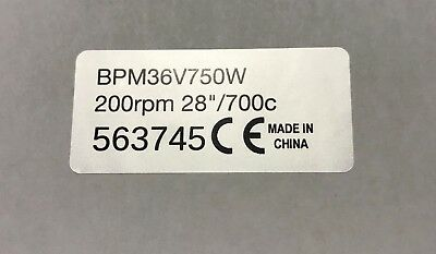 "MAC Bosch BMC Pedelec ebike 2x motor sticker 250w legal for 26/"" wheel Bafang"