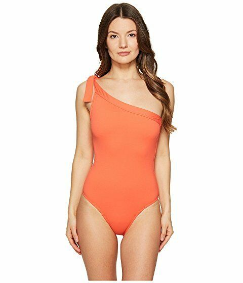 188 Letarte One Shoulder One Piece Swimsuit Women's sz XS Hot Coral