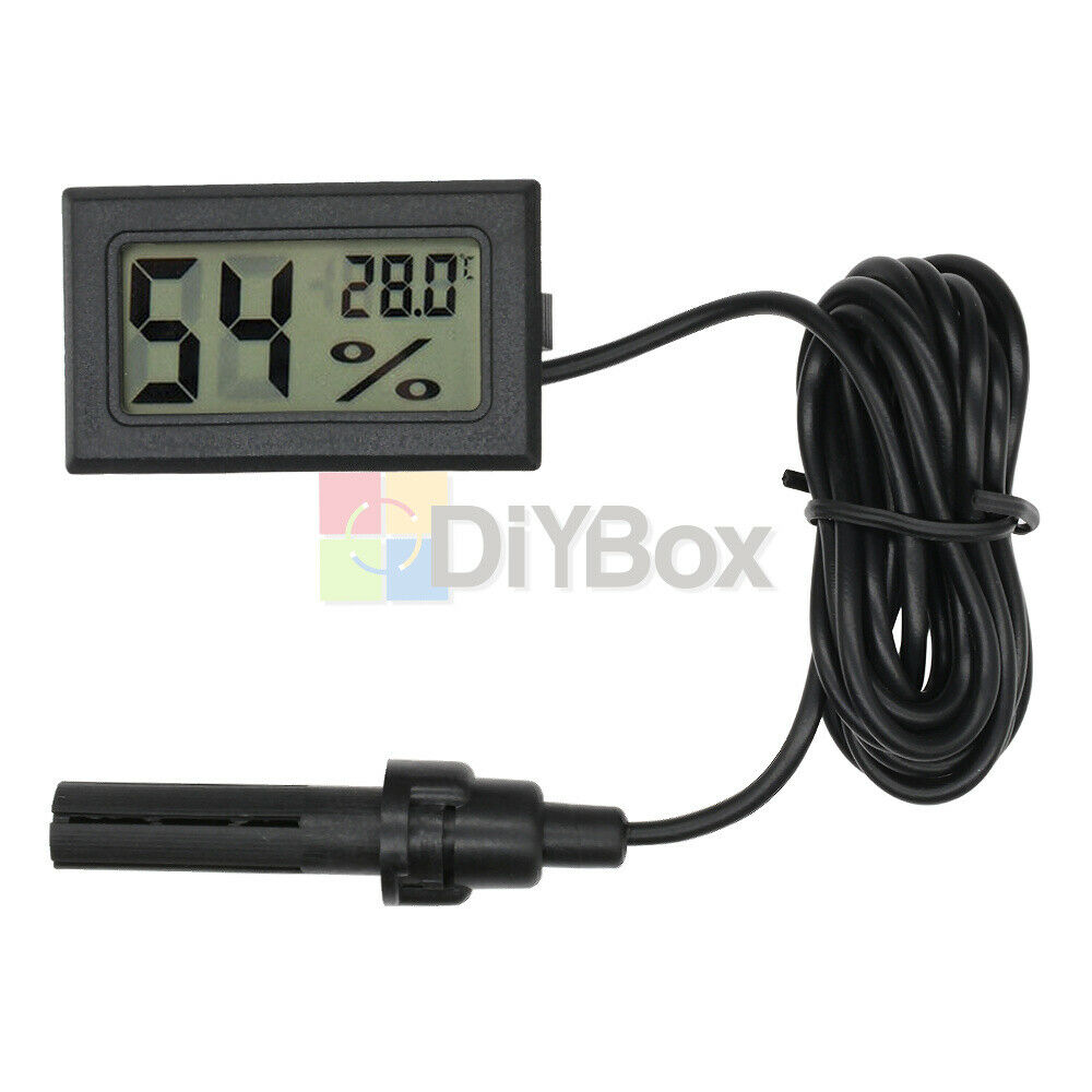 10x LCD Digital Temperature Humidity Thermometer Outdoor Hygrometer Meter Probe