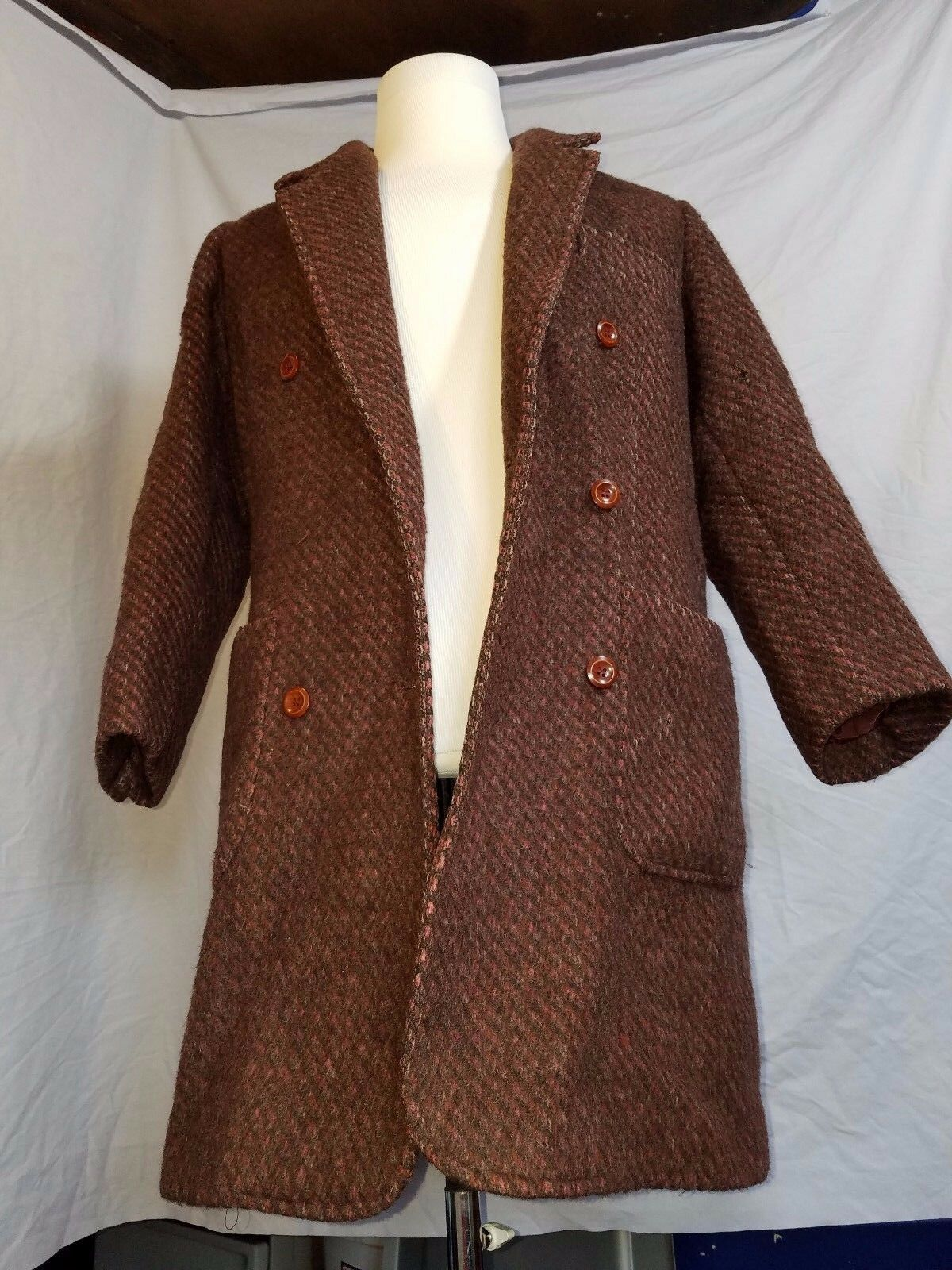 Vintage Carlisle Couture 100% Virgin Wool Women's Trench Coat Size 10