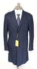 CANALI 1934 KEI Blue Melange Wool Unconstructed 3Btn Coat Jacket 56 46 2XL NWT
