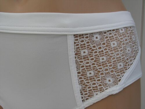 KNICKERS UK SIZE 8 STRETCHY SMOOTH /& MESH WHITE LADIES ELLE MACPHERSON BNWT