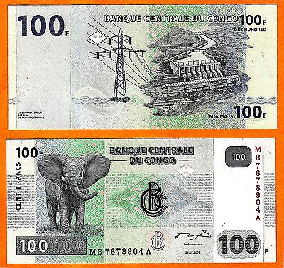 Adaptable Congo (democratic Republic) 2007 Banknote 100 Fr (banque Centrale Du Congo) -unc