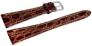 Kunst-Leder-Uhren-Armband-Braun-16-mm-Dornschliesse-Ersatzband-X8000332160
