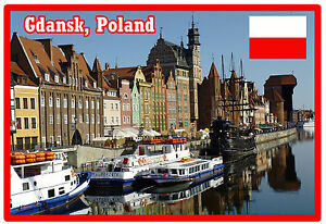Polen Brandneu Geschenk Warschau Souvenir Neuheit Kühlschrank-magnet