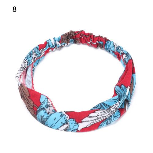 Wide Headband Elastic Bandana Turban Hair Band Sport Yoga Fitness Sweatbands New
