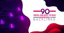 Manual 90 Seo Backlinks On Pr10 Da100 Tf100 Unique Domains