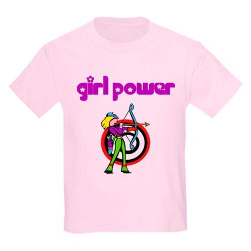 CafePress Girl Power Archery Kids T Shirt Kids Light T-Shirt 68265608