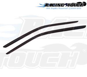 Dark Grey Outside Mount JDM Vent Visors Deflector 2pc For Dodge Challenger 08-16