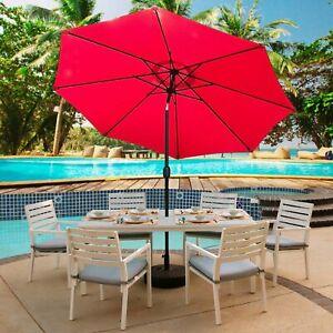 Abble 65ft 9 Ft Steel Patio Umbrella Crank Tilt Cover Table Market
