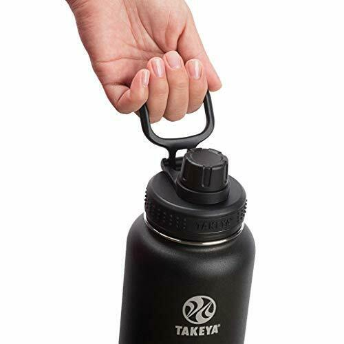24 oz, Takeya Actives Insulated Stainless Steel Water Bottle with Spout Lid
