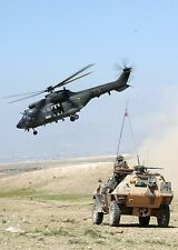 """French Foreign Legion Soldiers Afghanistan 2005 Spanish Helicopter 11x8"""" Photo"""