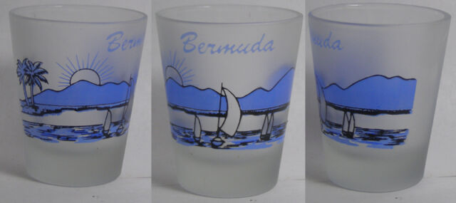 Bermuda Beach Scene Shot Glass #2335