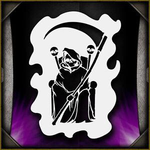 Grim Reaper 9 aerógrafo de plantilla plantilla volar