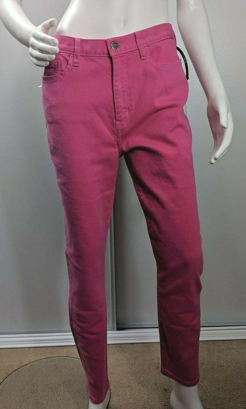 Current Elliott Jeans The Ultra High Waist Skinny Pink Stretch Ankle Size 25 New