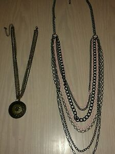 2-x-Chain-necklaces-One-with-pendant