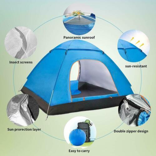 Pop Up 3-4 Person Beach Camping Festival Fishing Garden Adult Tent Sun Shelter