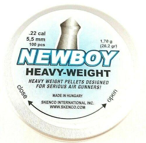 SKENCO NEWBOY HEAVY-WEIGHT .22 Pointed 26.2 Fast Ship AIR GUN PELLETS 100 ct.