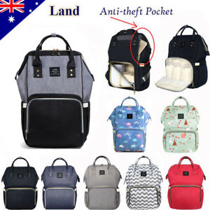GENUINE-LAND-Large-Multifunctional-Baby-Diaper-Nappy-Backpack-Mummy-Changing-Bag