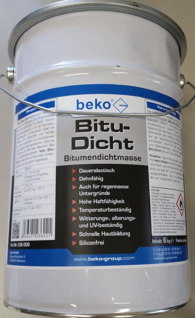 ORIGINAL beko Bitu Dicht Bitumendichtmasse Bitumenspachtel 6 kg