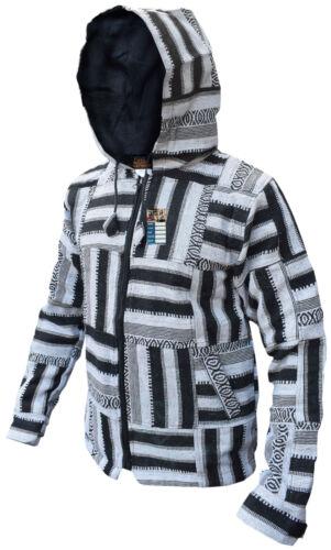 Veste polaire en noire blanche patchwork doublée et qqfrwzRx