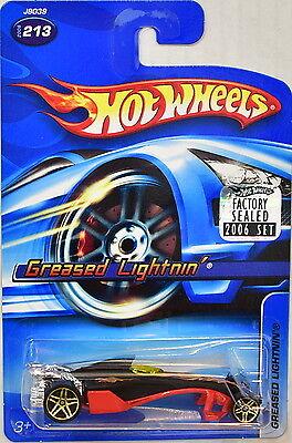 EntrüCkung Hot Wheels 2006 Geschmiert Lightnin' #213 Schwarz Werkseitig Versiegelt Autos, Lkw & Busse Modellbau