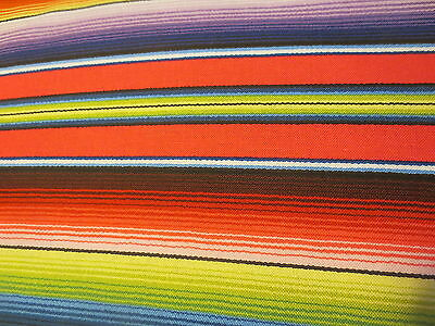 Blue Mexican Fiesta Stripe Elizabeth's Studio cotton Fabric
