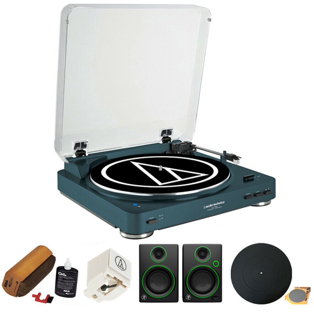 Audio-Technica AT-LP60-BT Bluetooth Turntable w Mackie CR3 Speakers & More. Buy it now for 299.00