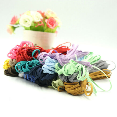 3mm Flat Elastic Band Stretch Cord Costume Clothing DIY Materials Sew Multicolor