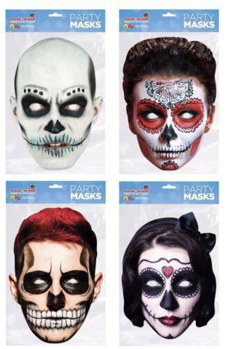 Giorno dei morti Rossa Capelli Halloween Carta Maschera Messicano Costume Di Halloween Accessorio