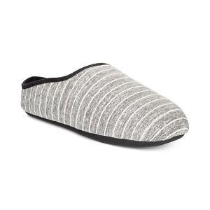 Cheap $98 BAR III Men BLACK WHITE SLIP-ON INDOOR HOUSE CLOGS SLIPPERS US SHOE 9.5-10.5 for sale