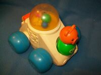 FISHER PRICE LITTLE PEOPLE POPPITY POP CAR BEAR 1987 1011 TOY PUSH PULL vintage