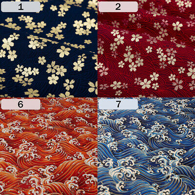 Japonais Tissu Coton Vêtement Kimono Fortune Chat Chien Rétro 100 150cm DIY