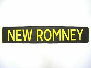 Vintage-1999-screen-printed-tyvek-Hastings-Bus-destination-blind-New-Romney