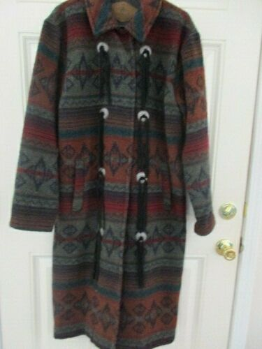Vintage Woolrich Nordic Navajo Wool Coat S USA mad