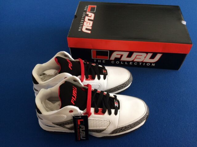 FUBU Reed 3 White With Red Mid Top