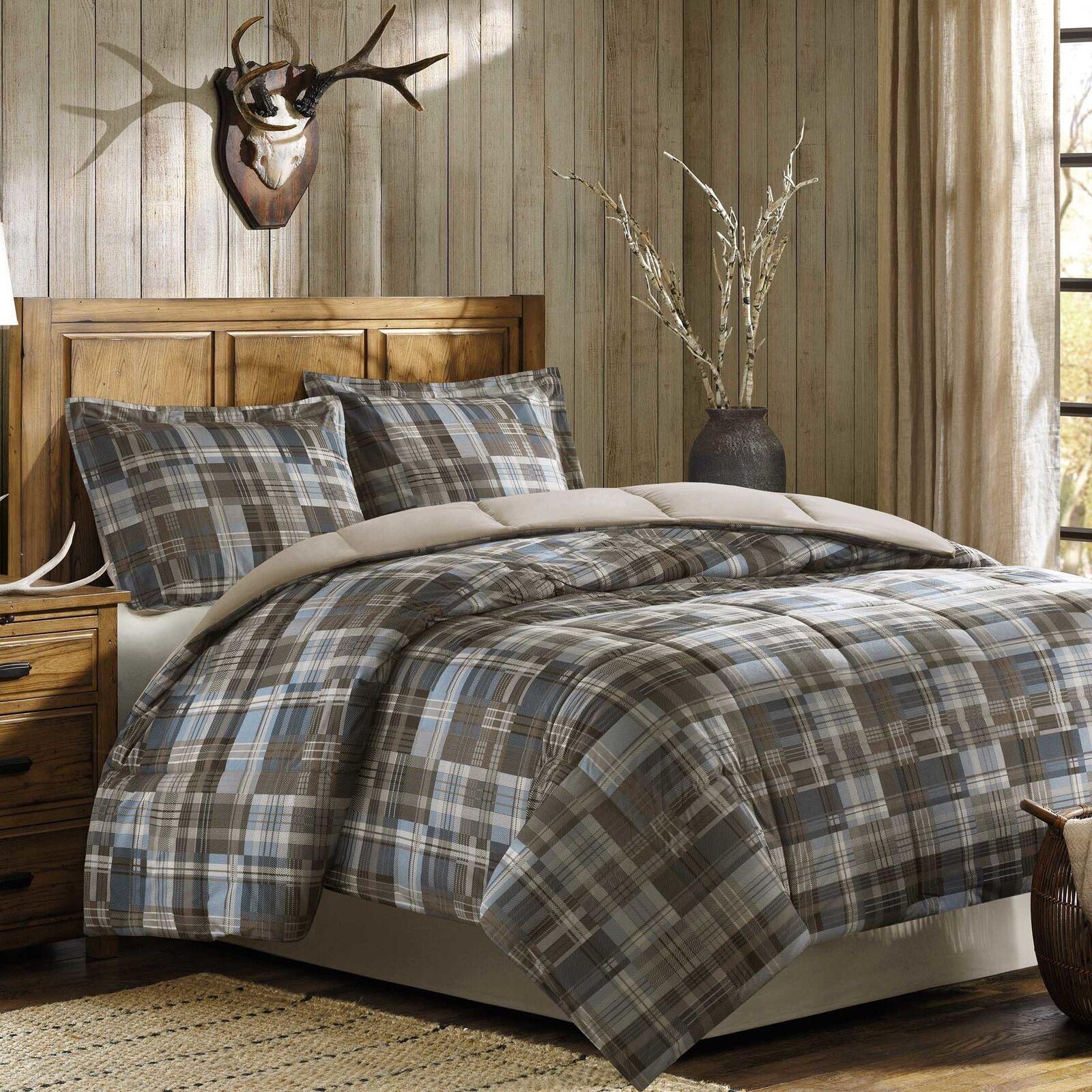 Woolrich White River Down Alternative Reversible Comforter Mini Set