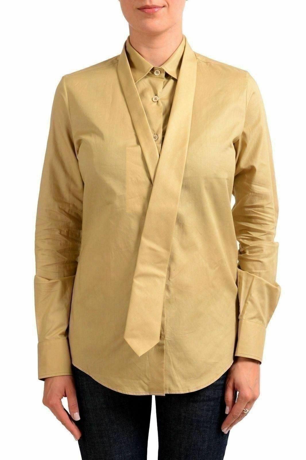 Maison Margiela 4 Beige Langärmlig Damen Geknöpftes Hemd S It 40