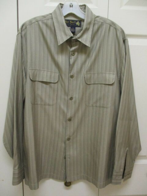 e1e6e5ea9f90 Men's NAT NAST Luxury Originals 100% Silk LS Casual Dress Shirt Sz M ...