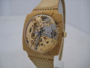 NOS NEW SPECIAL RARE MECHANICAL REVUE SKELETON SWISS WATCH 1960'S