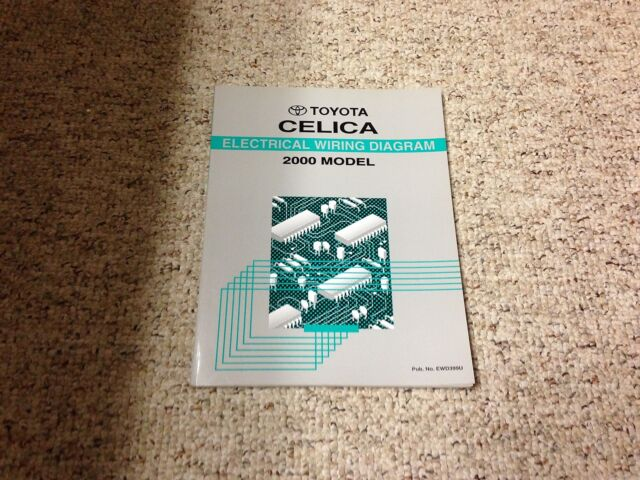 2000 Toyota Celica Electrical Wiring Diagram Manual Gt Gts