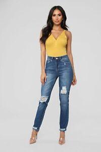 Fashion-Nova-Truman-Boyfriend-Jeans-Dark-Denim-Size-7