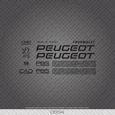 Transfers Decals 0554 Peugeot Bicycle Frame Stickers