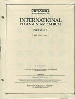 Scott National Postage Stamp Album 23a 1987 Us - Korea Supplement 384 Pages